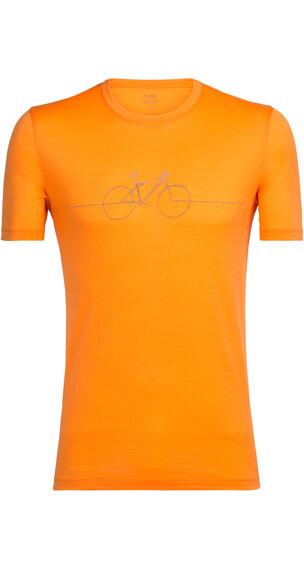 Icebreaker Tech Lite Cadence t-shirt Heren oranje